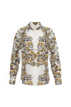 The French Toile Shirt in gold toile.