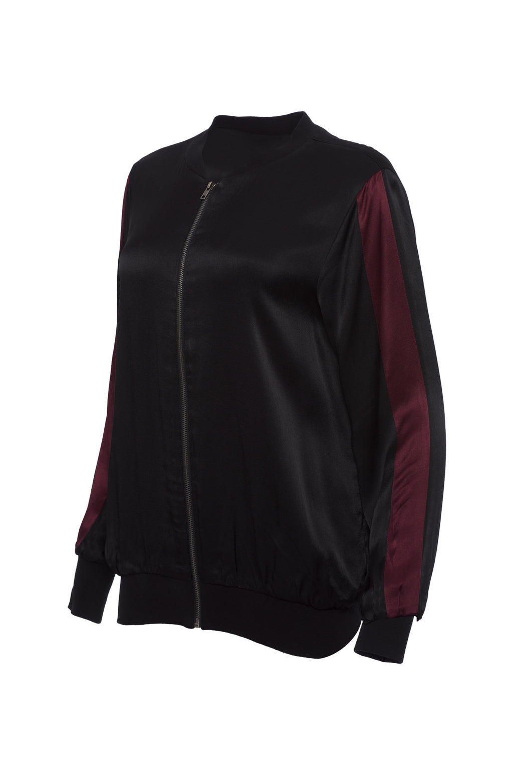 Hayley Color Block Bomber Jacket