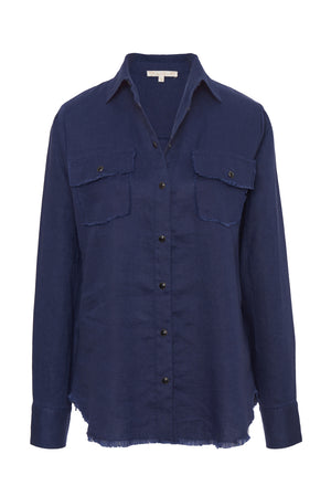 Frayed Linen Shirt