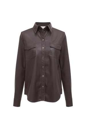 Faux Leather 70's Shirt