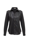 Faux Leather Western Shirt