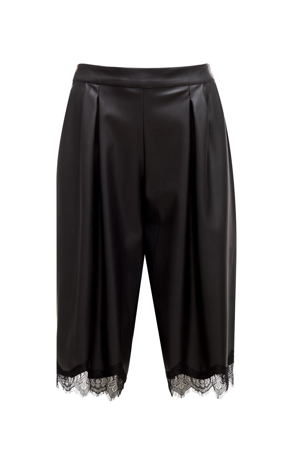 Faux Leather Gaucho Pant