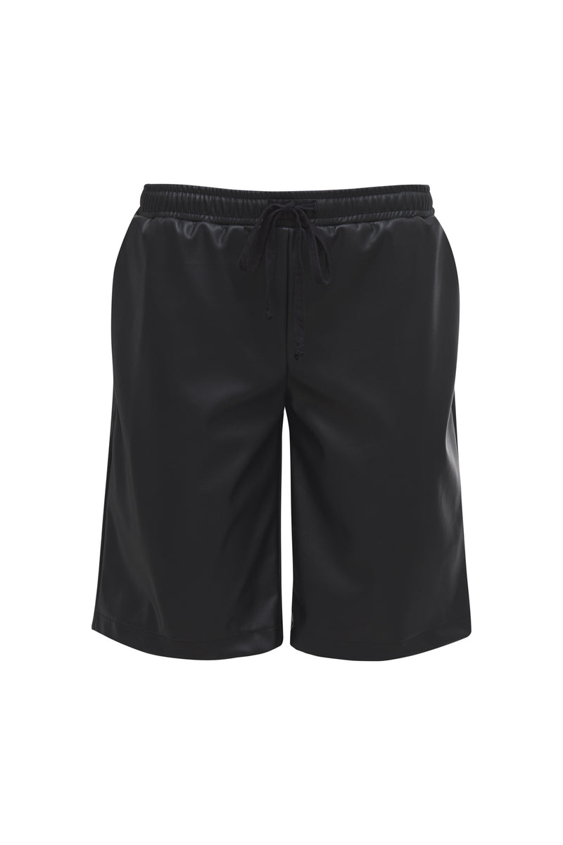 Faux Leather Walking Short