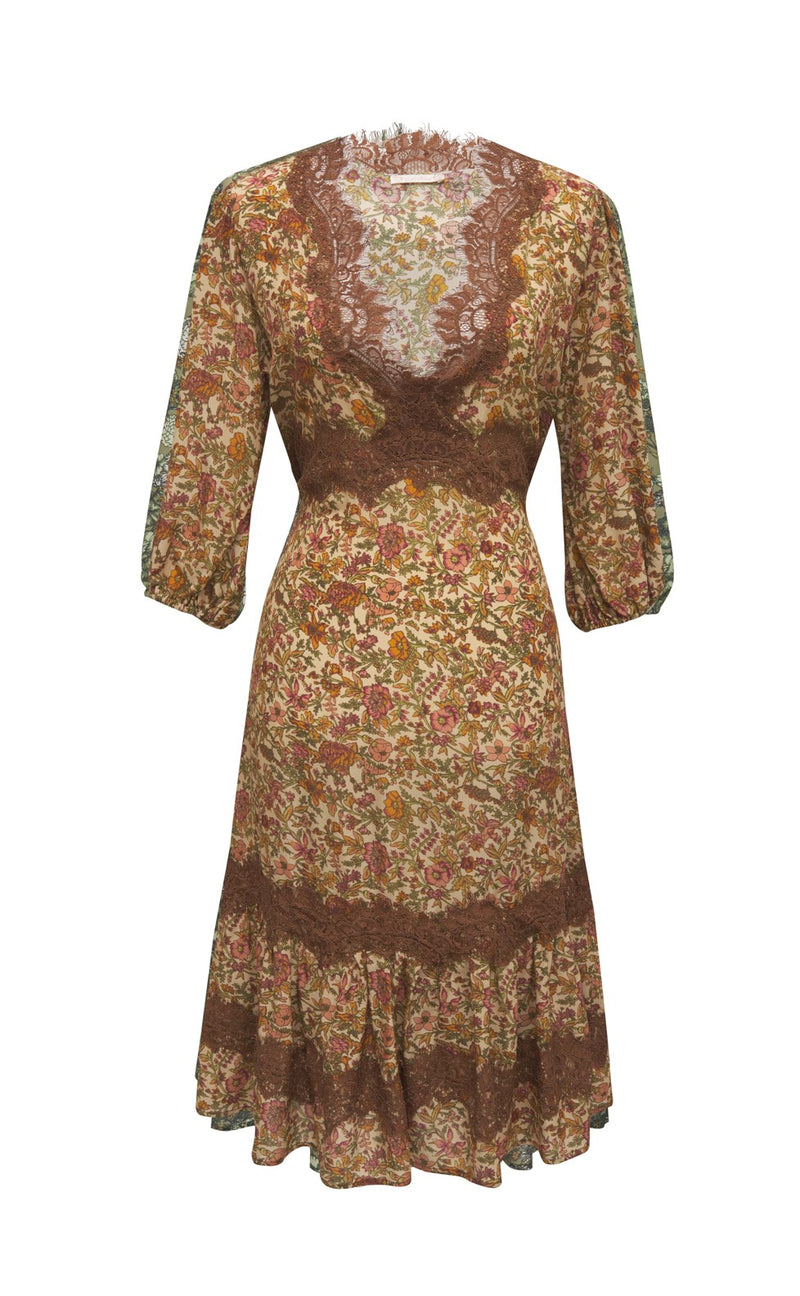 Bali Floral Midlength Dress