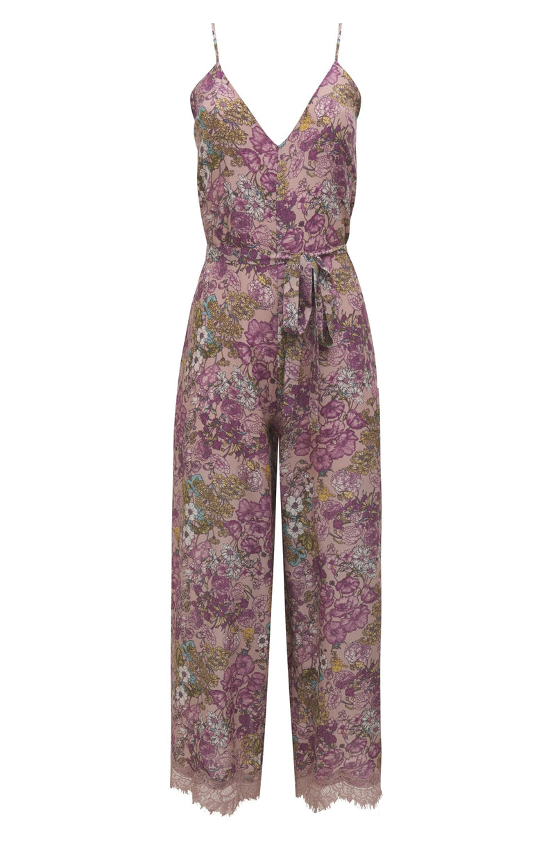 Tropical Jumpsuit Muted Rose