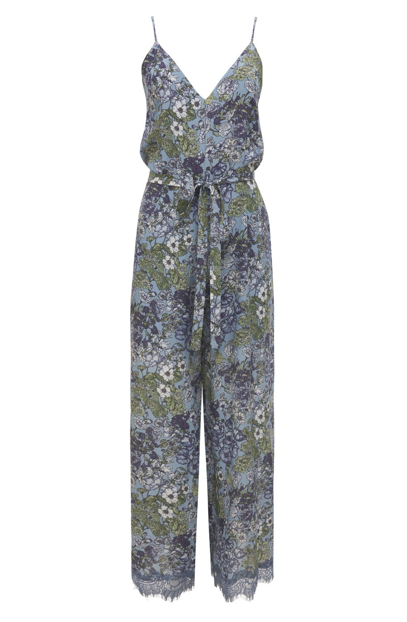 Tropical Jumpsuit Baby Blue