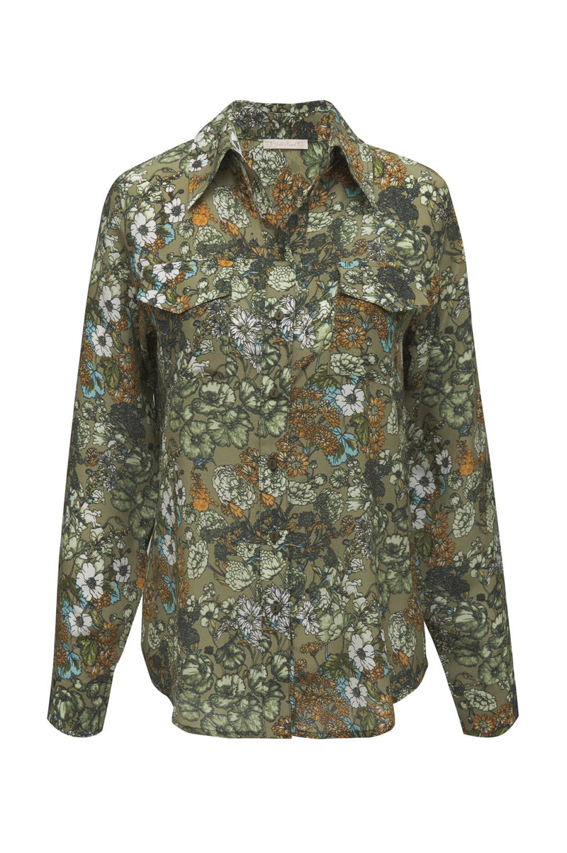 Tropical Pocket Shirt Dark Olive