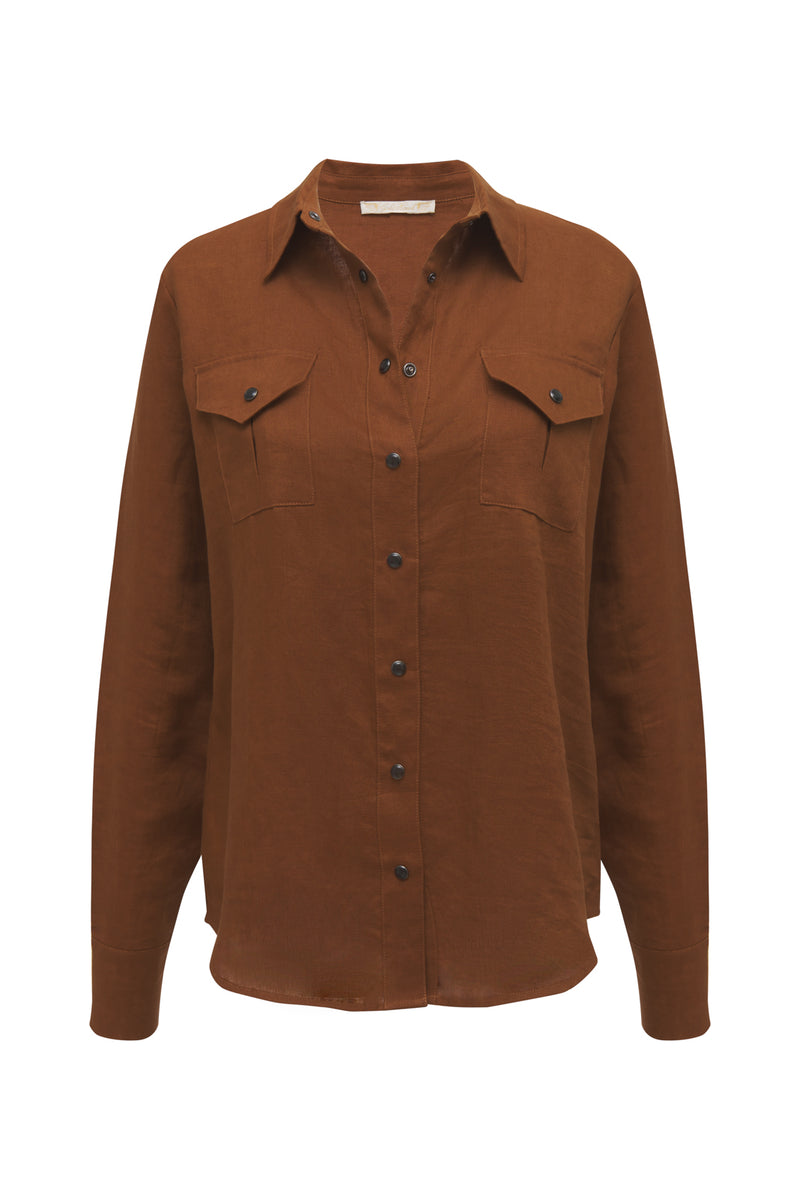 Lili Linen Pocket Shirt