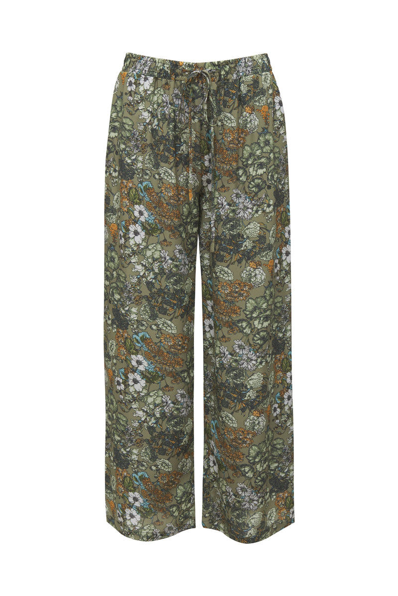 Tropical Pant Dark Olive