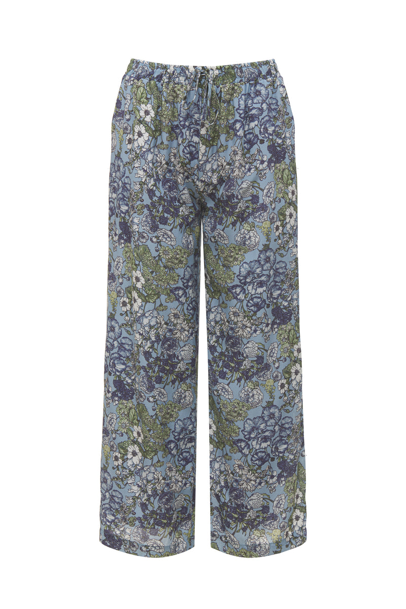 Tropical Pant Baby Blue