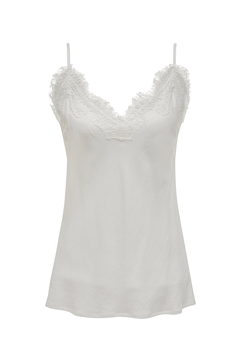 Powder Linen Bias Cami