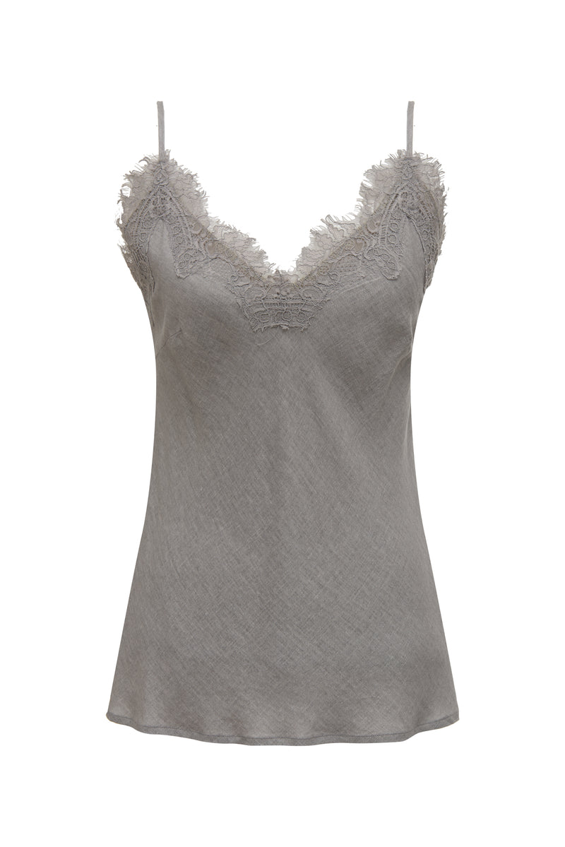 Powder Linen Bias Cami Steeple Grey