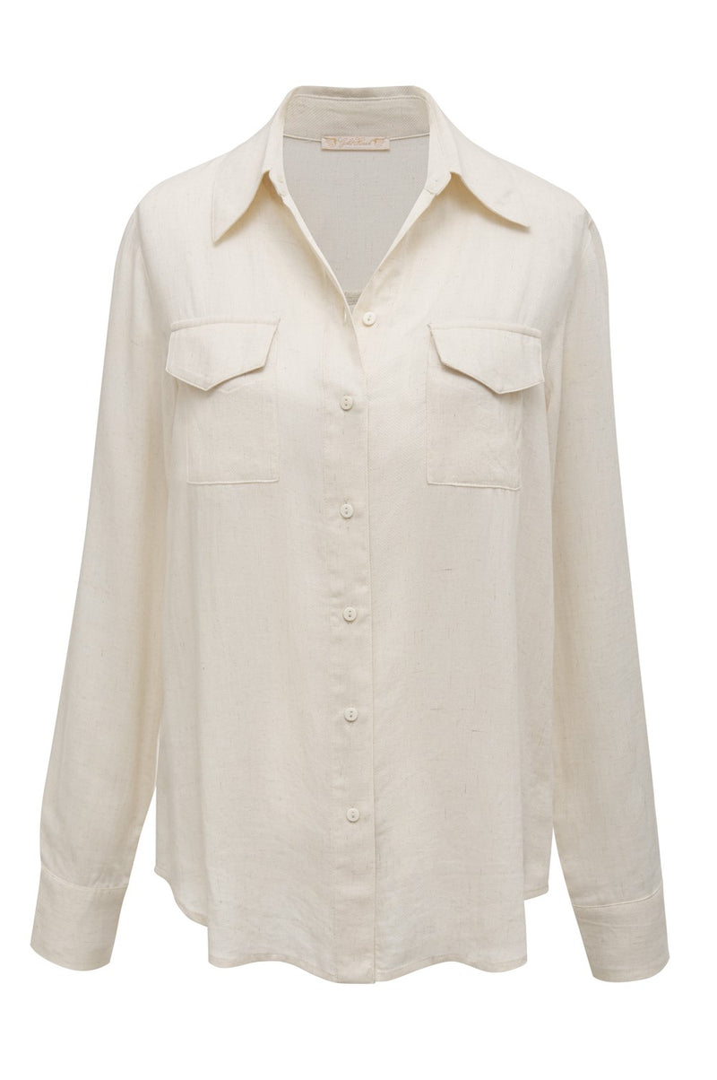Powder Linen Pocket Shirt