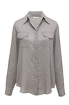 Powder Linen Pocket Shirt Steeple Grey