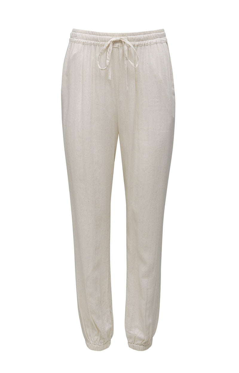 Powder Linen Jog Pant Dove