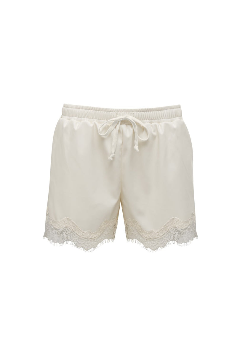 Faux Leather Lace Short