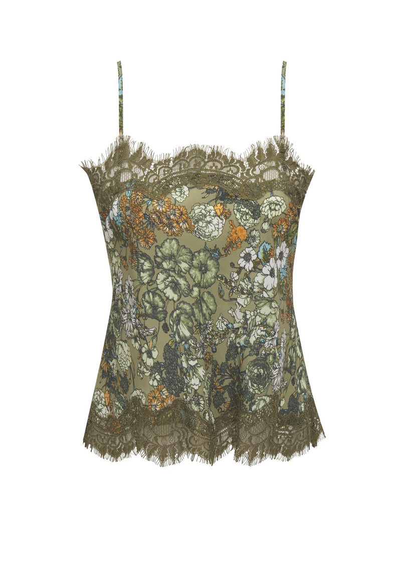 Tropical Ale Cami Dark Olive