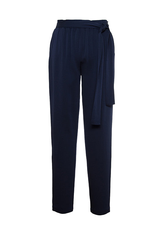 Jane Pull-On Tie-Waist Pants