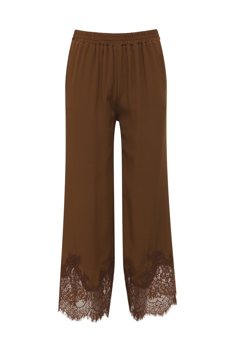 Claudette Lace Silk Pants