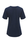 V-Neck Linen Pocket Tee