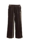 Velvet Wide Leg Pull-On Pants