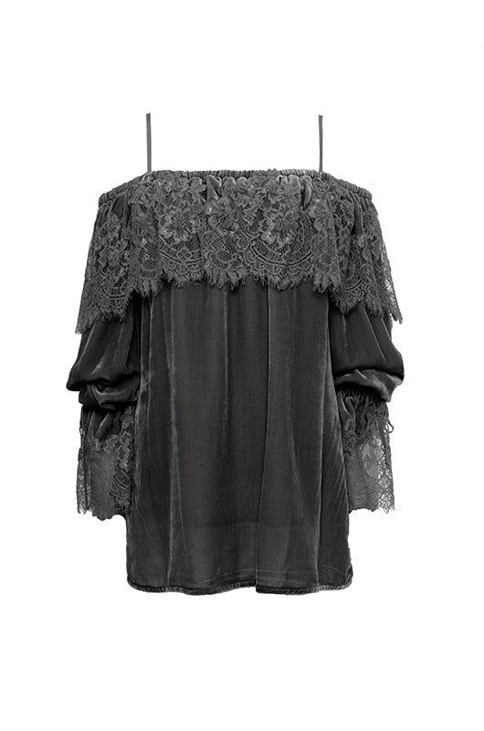 Sophia Lace Velvet Top