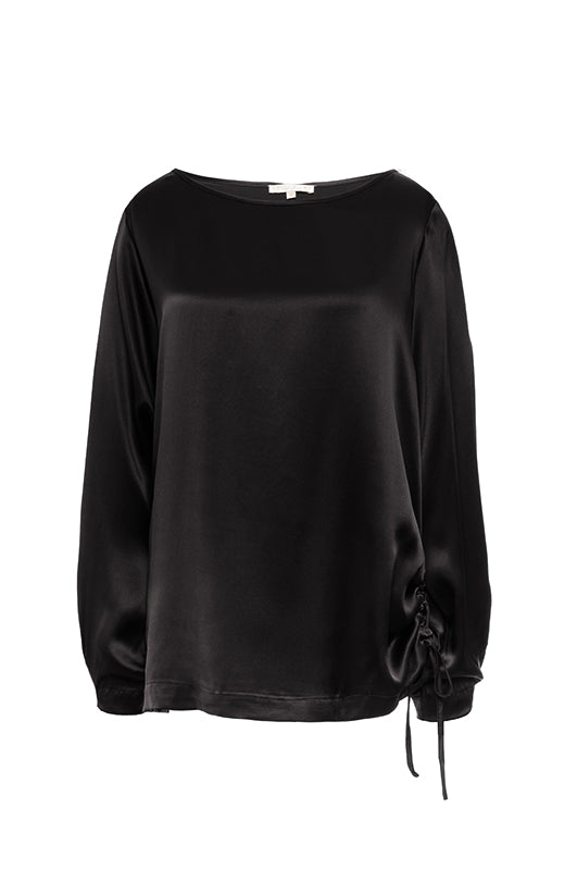 Wide Sleeve Silk Top