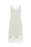The Grace Lace Silk Dress in dove.