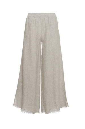 The Stripe Linen Flare Pants in birch.