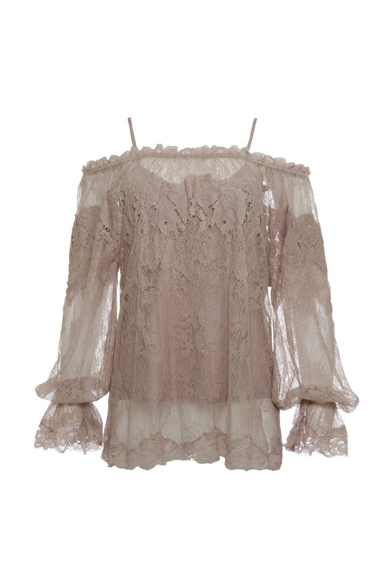 Chantilly Peasant Lace Top