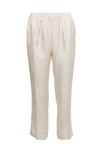 The Silk Twill Cuff Pants in dove.