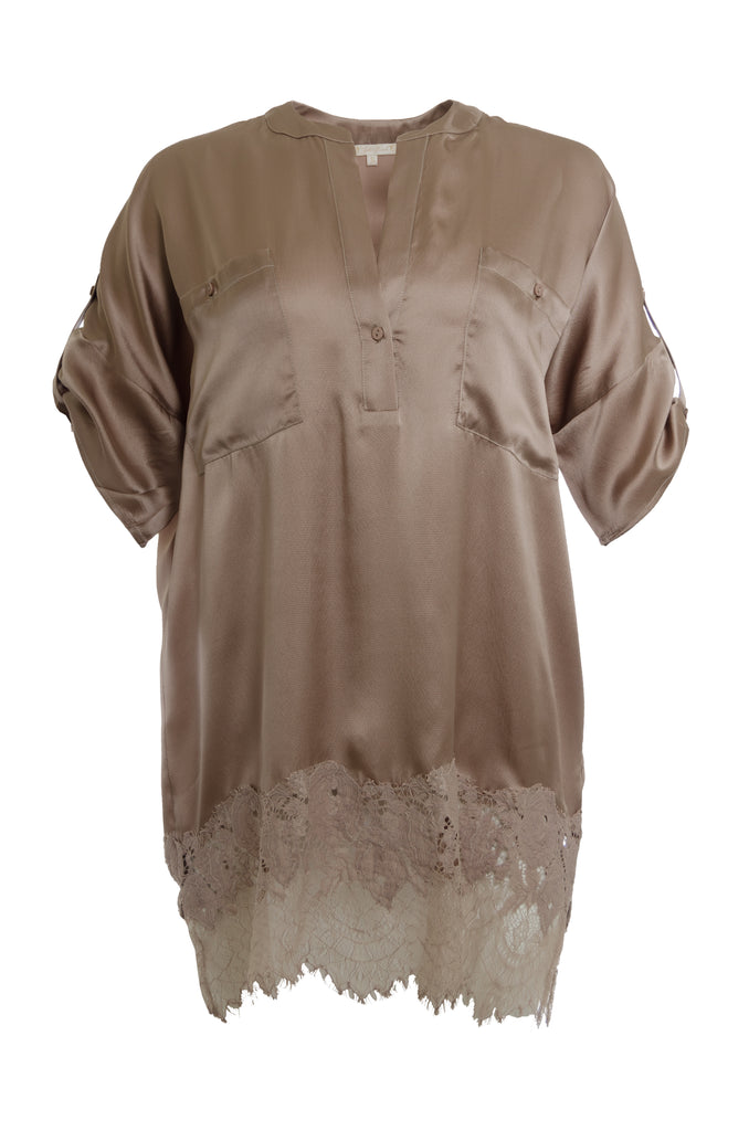 Henley Hammered Silk Shirt