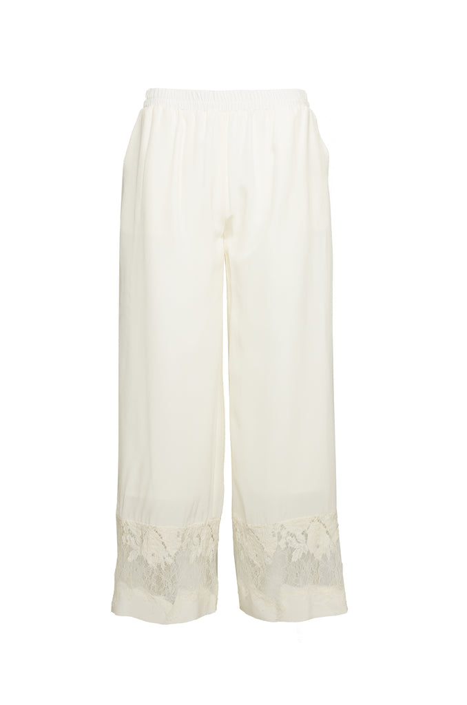 Julia Lace Silk Pants