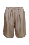 The Silk Twill Piping Shorts in birch.