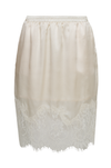 The Hammered Silk Lace Skirt in dove.
