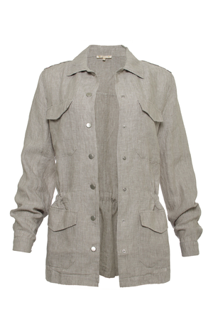 The Linen Army Jacket in birch.