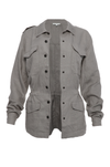 The Linen Army Jacket in steeple grey.