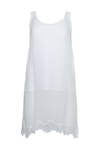 The Sheer Silk Tank Top in white.
