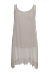 The Sheer Silk Tank Top in birch.