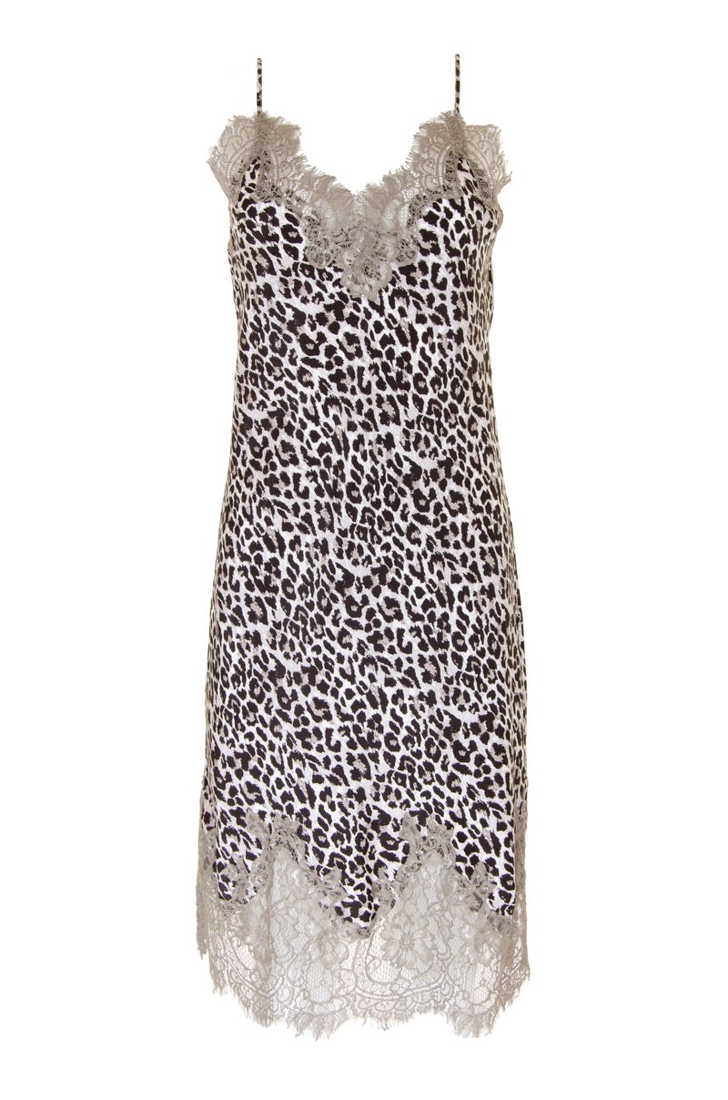 Coco Print Silk Slip Dress