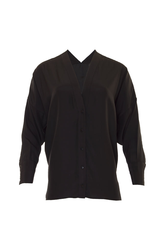 Solid Silk Wedge Shirt