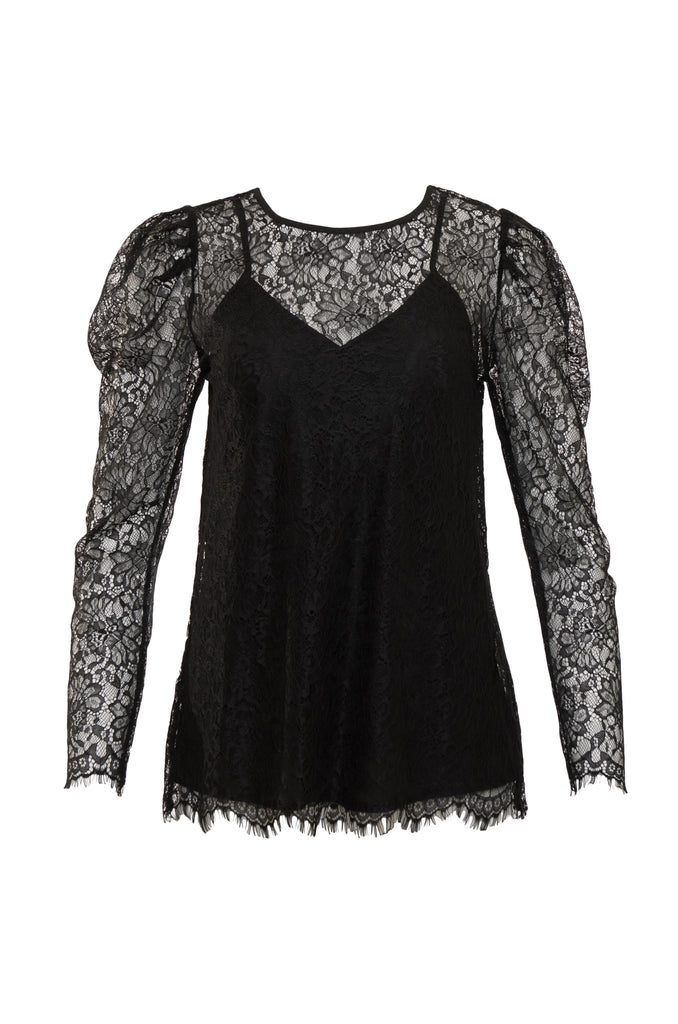 Chantilly Lace Puff Sleeve Top