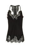 The Silk Lace Razorback Cami in black.