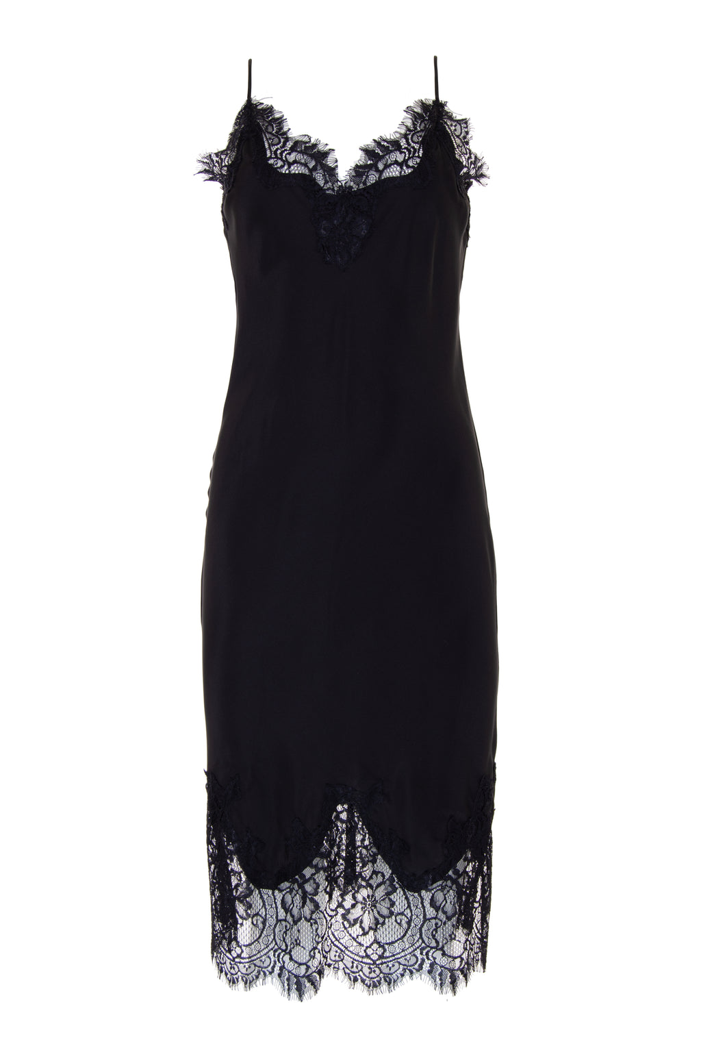 The Coco Bodice Lace Dress in black.