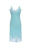 The Coco Bodice Lace Dress in aqua powder.