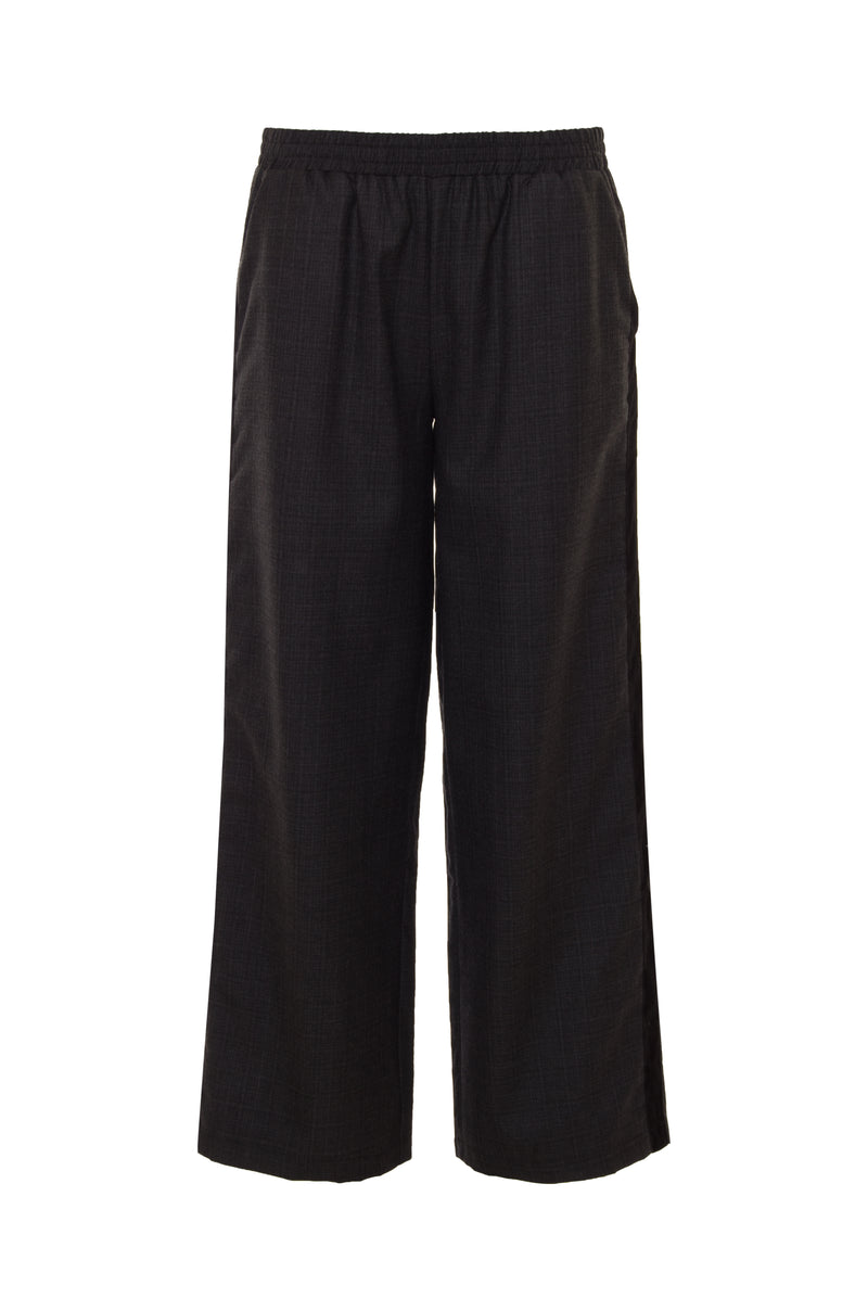 The Menswear Plaid Pants in charcoal.