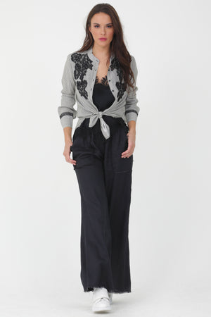 Frayed Linen Pant