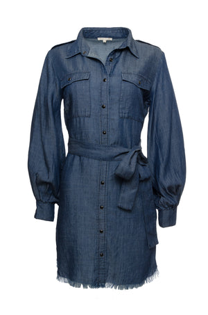 The JC Denim Dress in navy.
