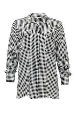 Anne Marie Gingham Silk Shirt