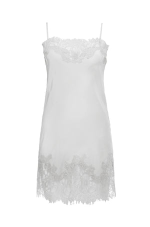 The Coco Lace Silk Tunic in white.